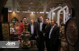 بازدید مسئولان از غرفه شهرستان اهر و استان آذربایجان شرقی در سومین نمایشگاه توانمندی های روستائیان و عشایر