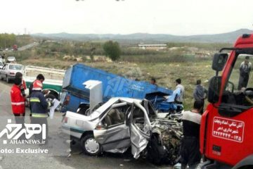 تصادف مرگبار پژو و نیسان در جاده اهر – مشگین شهر + تصاویر