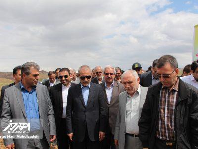 سفر استاندار آذربایجان شرقی به شهرستان هریس و بازدید از پروژه بزرگراه اهر – تبریز