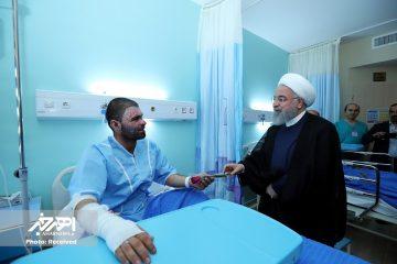 بهره برداری از مرکز سوانح و سوختگی بیمارستان سینا تبریز با حضور دکتر روحانی