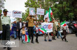 راهپیمایی اعتراضی مردم شهرستان اهر به سیاست های خصمانه امریکا در قبال برجام برگزار شد