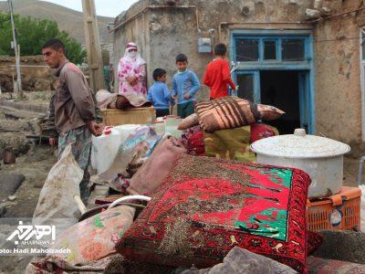 وقوع سیل در روستای بالی قشلاق و حضور فرماندار در این روستا برای بررسی خسارت ها (۱)