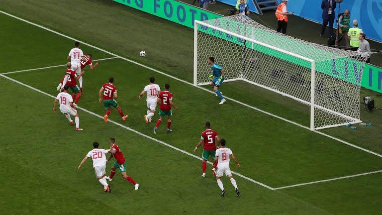 اختصاصی؛ لحضه تنها گل ایران مقابل مراکش در جام جهانی ۲۰۱۸