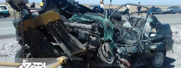 حادثه رانندگی مرگبار برای یک خانواده اهری در جاده تبریز – ارومیه با ۶ کشته و ۱ مصدوم + تصاویر