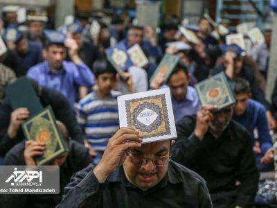 مراسم احیاء شب نوزدهم ماه مبارک رمضان در مساجد اهر