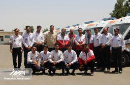 مراسم تحویل ۸ دستگاه آمبولانس جدید به مرکز فوریت های پزشکی اهر (اورژانس ۱۱۵)