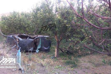 واژگونی خونین خودروی سواری پژو در جاده اهر – تبریز با ۳ کشته و ۵ مصدوم