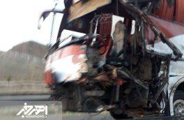 تصادف بامدادی خاور و اتوبوس در جاده اهر – تبریز با ۹ مصدوم