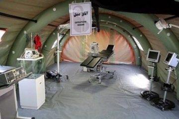 بیمارستان صحرایی ارتش به مدت ۵ روز در ورزقان راه اندازی شد