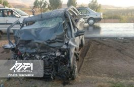 تصادف شدید خودروهای سواری پژو در جاده اهر – مشگین شهر با ۸ کشته و مصدوم + تصاویر