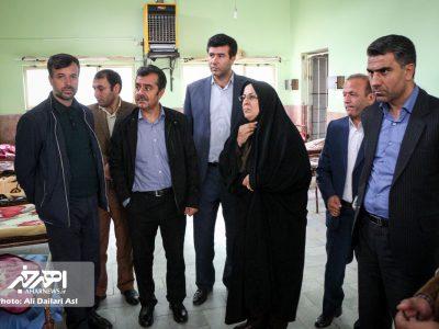 بازدید مدیر مجتمع مس سونگون آذربایجان از مرکز توانبخشی طهور شهرستان اهر