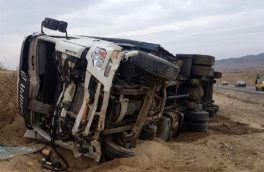واژگونی تریلر در جاده اهر – کلیبر ۲ قربانی گرفت