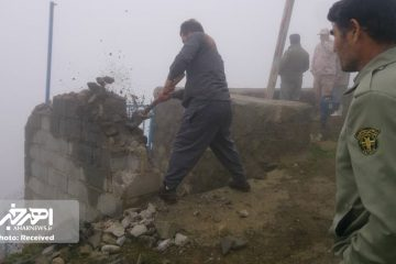 رفع تصرف ۱۷۴۶ متر از اراضی ملی منطقه حفاظت شده ارسباران