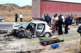 تصادف خونین در جاده اهر – تبریز با ۷ کشته و مصدوم + تصاویر اختصاصی