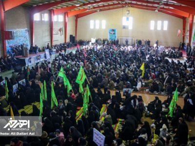 اجتماع شکوه مقاومت بسیجیان شهرستان اهر به مناسبت سالروز تأسیس بسیج