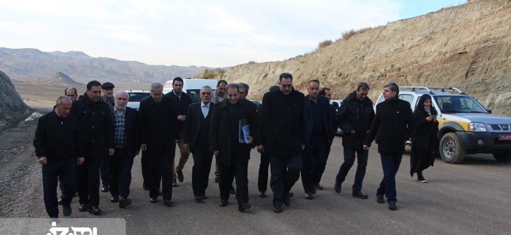بازدید دکتر پورمحمدی، استاندار جدید آذربایجان شرقی از پروژه  بزرگراه اهر – تبریز