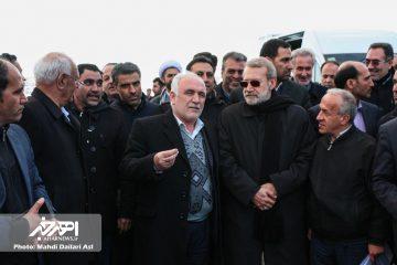 رئیس مجلس از بزرگراه در حال ساخت اهر – تبریز بازدید کرد
