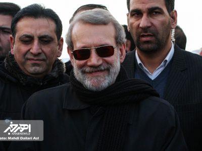 بازدید رئیس مجلس شورای اسلامی از بزرگراه در حال ساخت اهر – تبریز