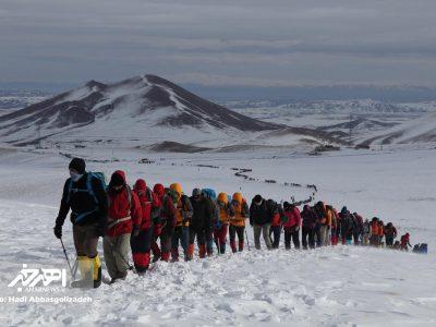 صعود سراسری کوهنوردان کشور به قلل هفتگانه سهند