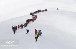 همایش کوهنوردان شهرهای همجوار شهر هریس در کوه ساپلاق