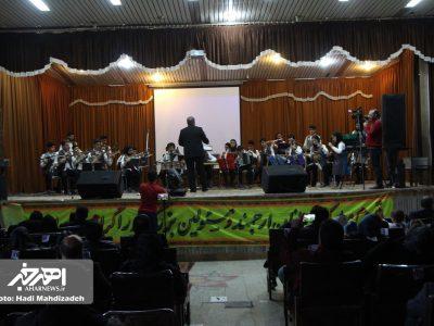 کنسرت موسیقی آذربایجانی ارکستر نوجوانان یاغیش به رهبری دکتر حبیب اله صیرفی در اهر
