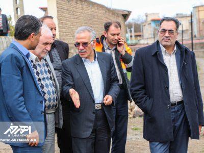 سفر یک روزه معاون عمرانی استاندار و مدیران کل امور شوراها و فنی استانداری آذربایجان شرقی به اهر