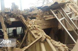 ریزش سقف یک خانه مسکونی در اهر / زن ۵۰ ساله از زیر آوار نجات یافت + تصاویر