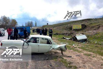 تصادف مرگبار در جاده اهر – مشگین شهر با ۴ کشته و ۳ مصدوم