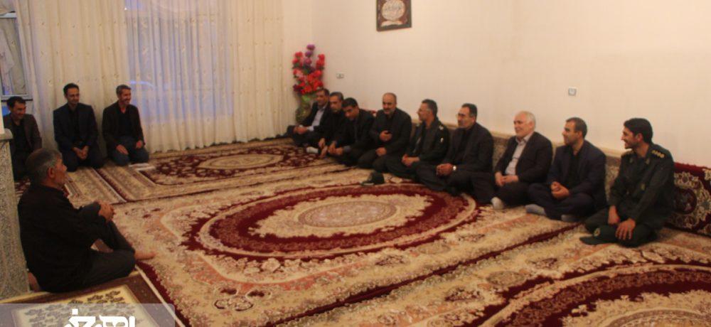 دیدار مسئولان ارشد شهرستان اهر با خانواده شهداء و جانباز در روستای تقدوز