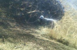 آتش سوزی ۹ هکتار از اراضی جنگلی کلیبر را از بین برد