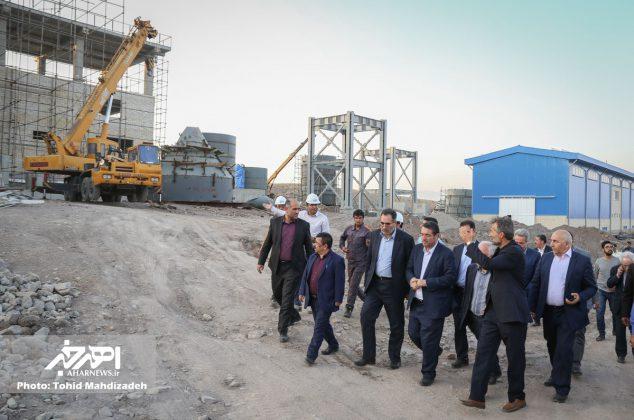 بازدید وزیر صنعت، معدن و تجارت از کارخانه در حال احداث آهک هیدراته اهر