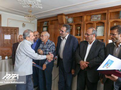 نشست فرماندار اهر با اصحاب رسانه و قلم این شهرستان به مناسبت روز خبرنگار