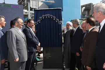 فاز نخست نیروگاه سیکل ترکیبی هریس با حضور رئیس جمهور افتتاح شد