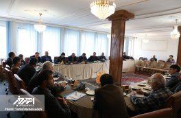 نشست خبری فرماندار و مسئولان شهرستان اهر به مناسبت هفته دولت