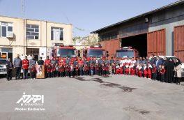 مراسم بزرگداشت روز آتش نشانی و ایمنی و تجلیل از آتش نشانان شهرستان اهر
