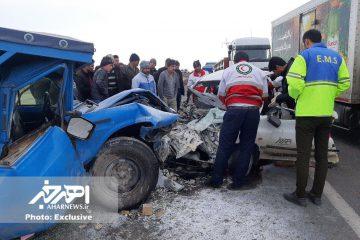 سانحه رانندگی در جاده اهر – تبریز ۲ کشته و ۲ مصدوم بر جای گذاشت