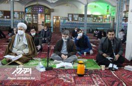 شب احیای ۱۹ ماه رمضان در مساجد اهر با رعایت فاصله اجتماعی و پروتکل های بهداشتی