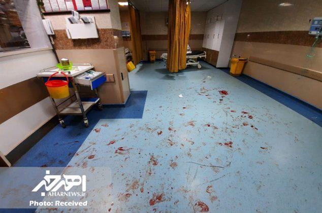 درگیری در اورژانس بیمارستان باقرالعلوم (ع) اهر