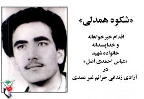 خانواده شهید احمدی اصل یک نفر زندانی جرائم غیرعمد را آزاد کرد