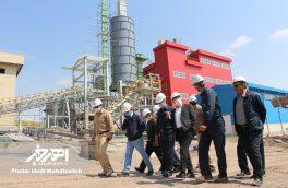 بازدید دکتر بیات، مدیرعامل جدید مجتمع مس سونگون از کارخانه و معدن آهک اهر