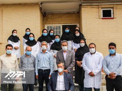 حضور معاون بهداشت دانشگاه علوم پزشکی تبریز در اهر و بازدید از مراکز بهداشت این شهرستان