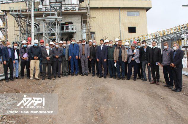حضور دکتر سعدمحمدی، مدیرعامل شرکت ملی صنایع مس ایران در اهر و بازدید از پروژه کارخانه آهک هیدراته