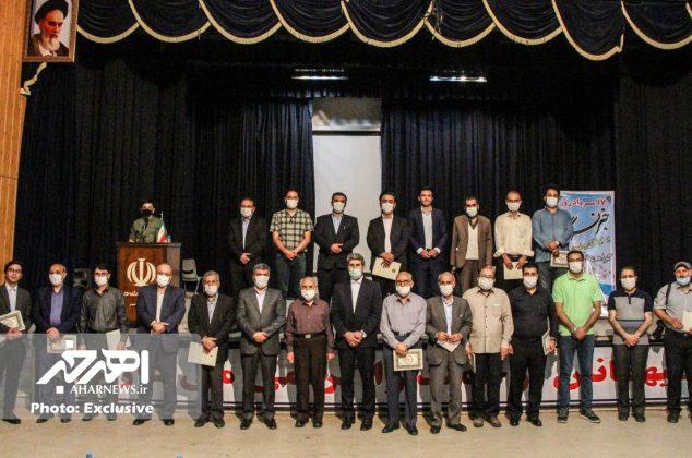 مراسم تجلیل از خبرنگاران اهر با حضور مسئولان ارشد شهرستانی