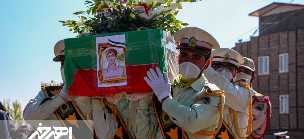 تشییع پیکر مطهر سرباز شهید مدافع وطن ساسان امیرخانی در اهر