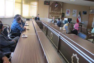 نشست صمیمی رئیس اداره فرهنگ و ارشاد اسلامی اهر با هیات مدیره انجمن خوشنویسی