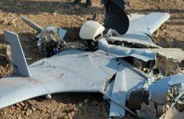 سقوط یک فروند پهپاد جنگ قره باغ در خداآفرین