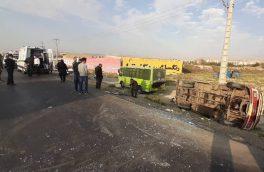 واژگونی مینی بوس در آذربایجان شرقی ۶ مصدوم بر جا گذاشت