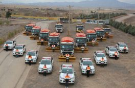 بکارگیری ۳۷۶ دستگاه ماشین آلات در عملیات راهداری آذربایجان شرقی