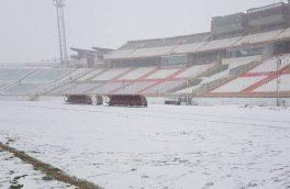بارش برف دیدار تراکتور سازی با سپاهان را لغو کرد