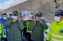 تشییع پیکر شهید مدافع سلامت در کلیبر